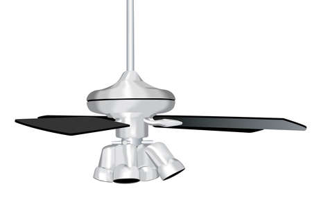 nickel: Ceiling Fan Illustration Stock Photo