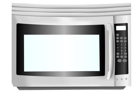 stainless steel: Stainless steel microwave illustration Stock Photo