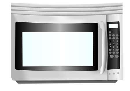 Stainless steel microwave illustration Reklamní fotografie