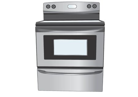 stainless steel: Stainless steel stove illustration