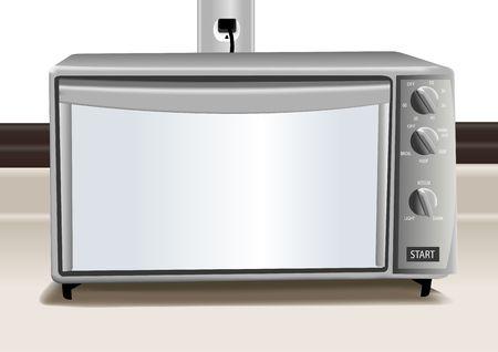 オーブン トースターではカウンターの図