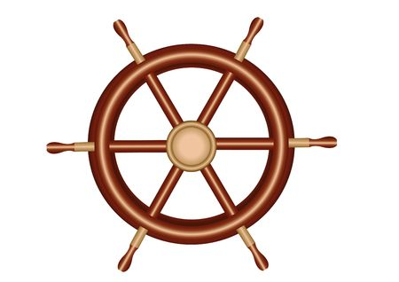 piloting: Steering wheel Illustration