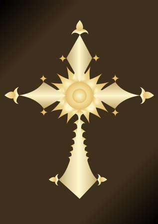 Golden Cross Illustration