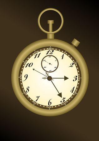 elapsed: Antique stop watch illustraiton