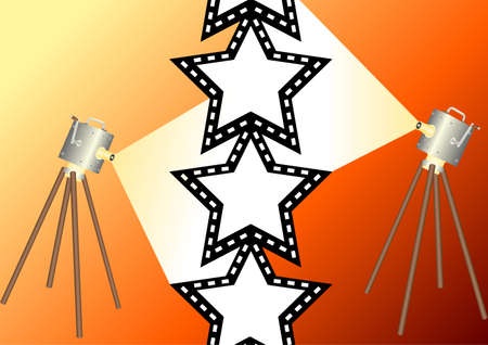 negativity: Film star 1 Stock Photo