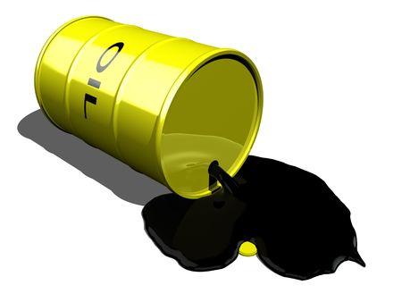 3d cg: oil drum spilling oil 2