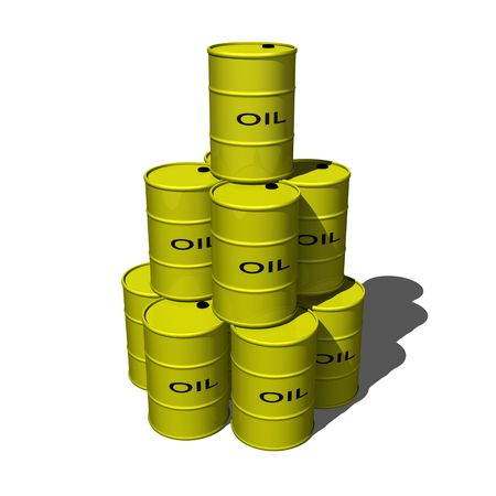 Stack of oil drums 1