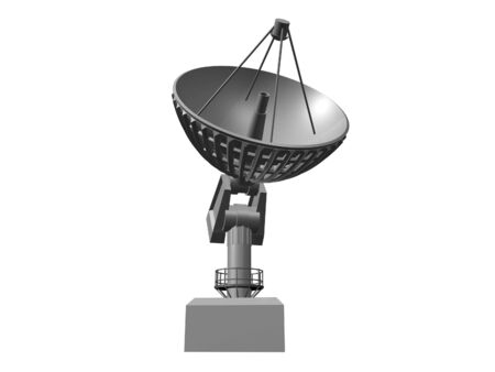 White Satellite dish on white background 2.  3D image Imagens - 3404402