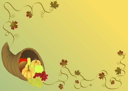 Cornucopia illustration background