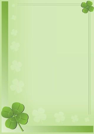 four leaf: D�a de San Patricio de fondo con cuatro hojas de tr�bol ilustraci�n Foto de archivo