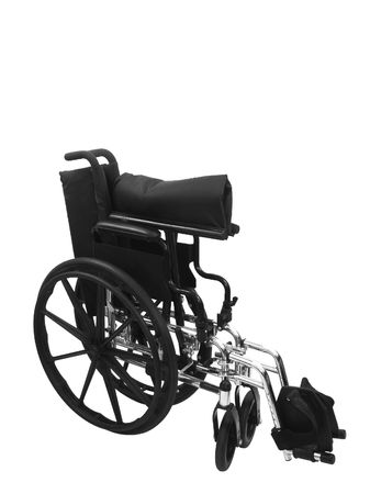 Black wheel chair on an isolated white background Stock fotó - 4764291