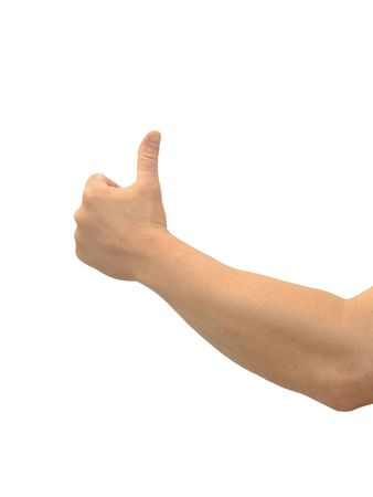 alright: Thumbs up on a white background