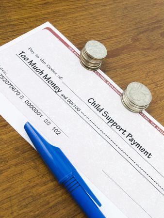 aussi: Le paiement des pensions alimentaires pour enfants Check concept trop d'argent