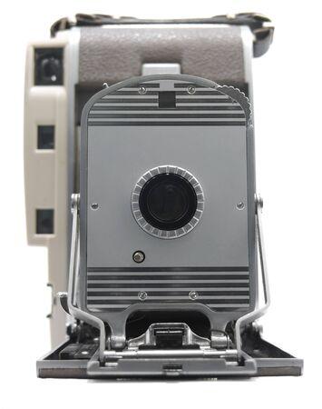 Oudere Antieke camera op een witte achtergrond