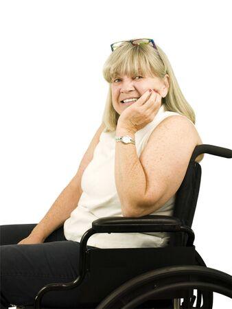 Happy Senior Woman in a wheel chair