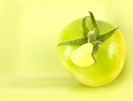 Tomato with an unusual growth on the top of it Stock fotó