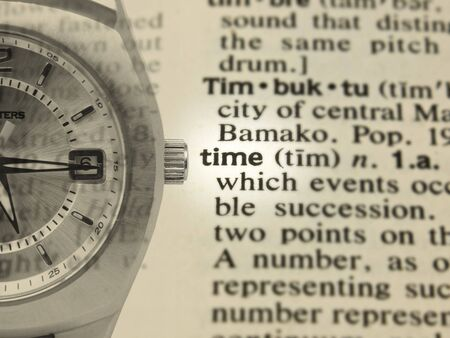 imposed: Time Concept with definition and imposed watch