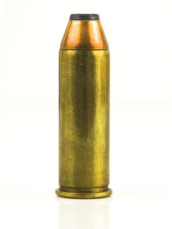 Bullet with reflection on a white background