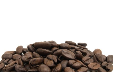 Large Group of coffee beans on a white background Imagens