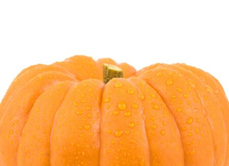 Small gourd pumpkin on a white background Imagens