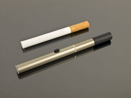 Electronic Cigarette compared to an analog cigarette