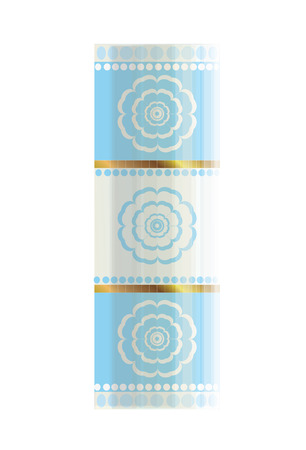 cerulean: flower cylinder Illustration