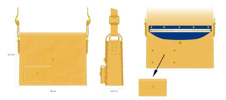 seam: square bag Illustration