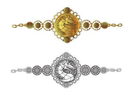 bracelet: dragon bracelet