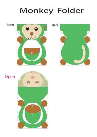 stuffed animal: folder monkey Illustration