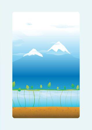 cerulean: mountain two Illustration