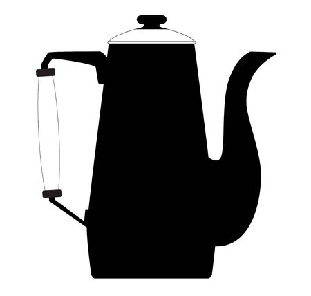 wares: vector graphic of shadow of kettle.kettle two Illustration