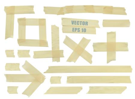 cintas: Conjunto de varias piezas de cinta adhesiva.