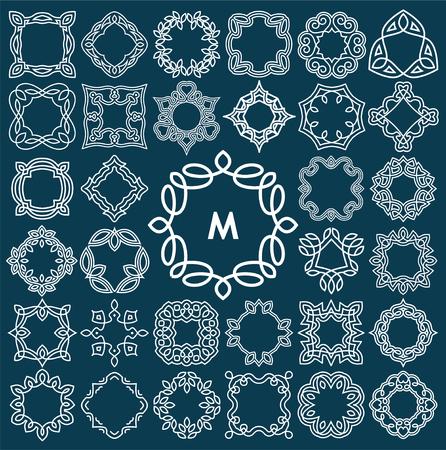 Set of elegant monogram design. Vector illustration.  イラスト・ベクター素材