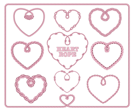 Heart shaped rope collection.