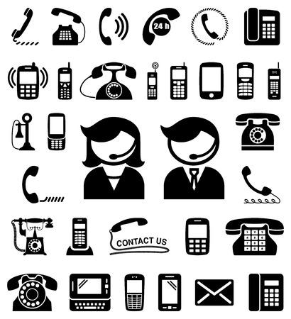 Set of communication  contact us icons.   イラスト・ベクター素材