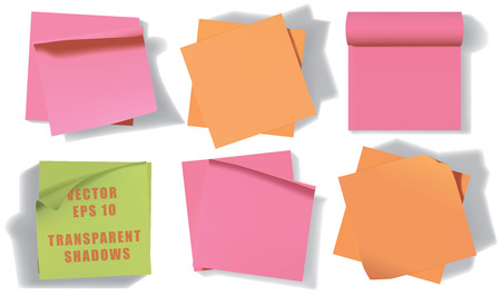 Set of sticky notes.