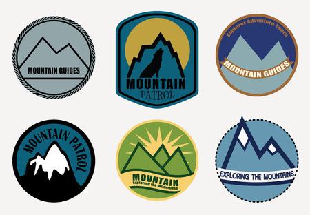 border patrol: Set of Mountain labels.