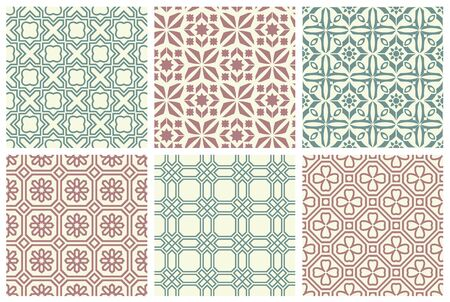 Set of seamless patterns.  イラスト・ベクター素材
