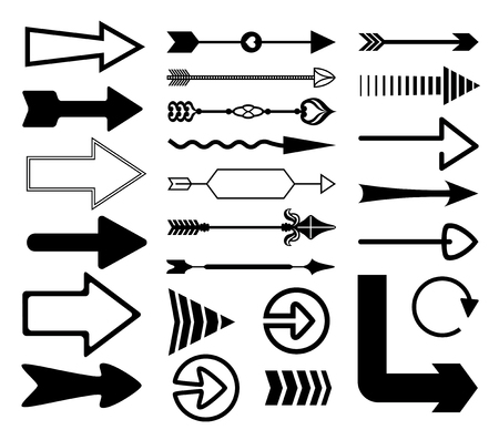 Set of decorative arrows.  向量圖像