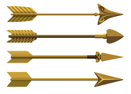 arco y flecha: Conjunto de flechas decorativas.