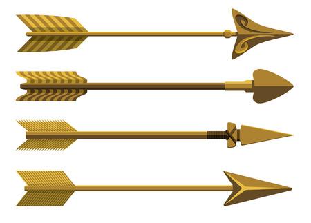flecha: Conjunto de flechas decorativas.