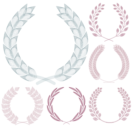 Set of Guilloche Wreaths.