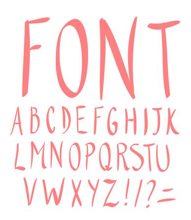 Hand drawn alphabet. Vector Illustration.  イラスト・ベクター素材