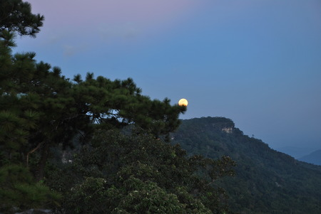 The Super moon in Thailand