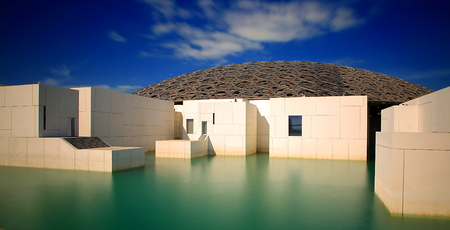 The Louvre art gallery in Abu Dhabi