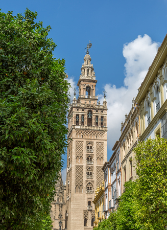 La Giralda, the bell tower of Seville Cathedral, Spain