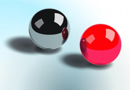 nice 3d balls on table