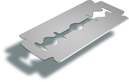 blade cut: razor blade Illustration