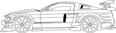 mustang: knight rider car