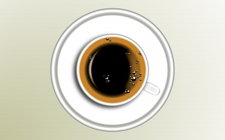 cofee cup: cofee cup from above Illustration
